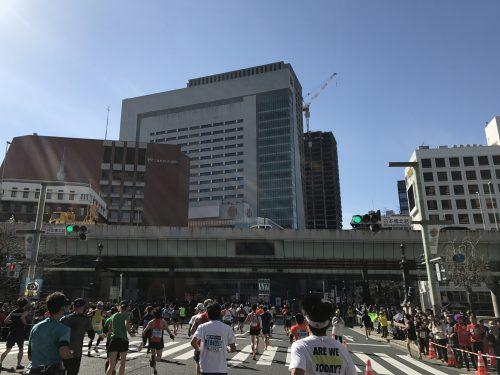 東京マラソン 日本橋
